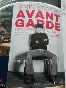 """Affiche de l'exposition """"Avant-garde féministe des années 70"""" à la Kunsthalle d'Hambourg"""