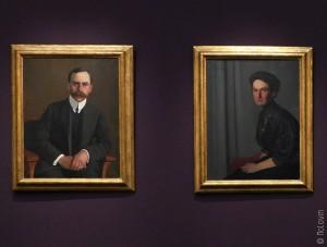 Portraits d'Arthur et Hedy Hahnloser-Bühler par Félix Vallotton