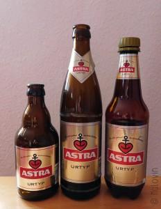 Différents formats et contenants d'Astra