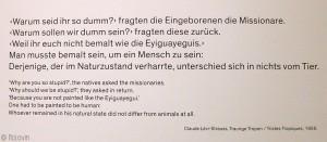 Citation extraite de Tristes Tropiques de Claude Lévi-Strauss (1955)