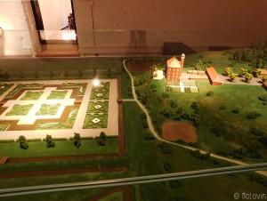 La maquette du Château d'Agathenburg