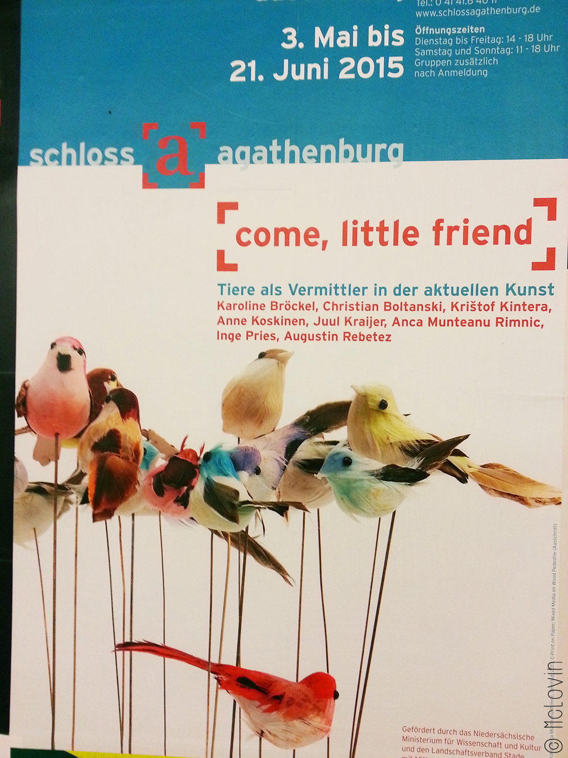"L'affiche de l'exposition ""Come, little friend"" au château d'Agathenburg"