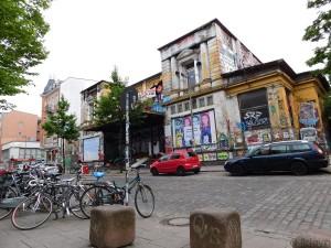 La Rote Flora, ancien théâtre transformé en squatt autogéré.