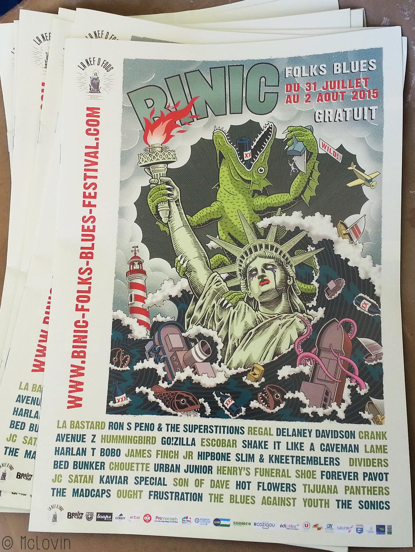 Le programme du Binic Folks Blues Festival