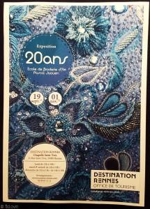 Affiche de l'exposition des 20 ans de l'école de broderie d'art de Pascal Jaouen