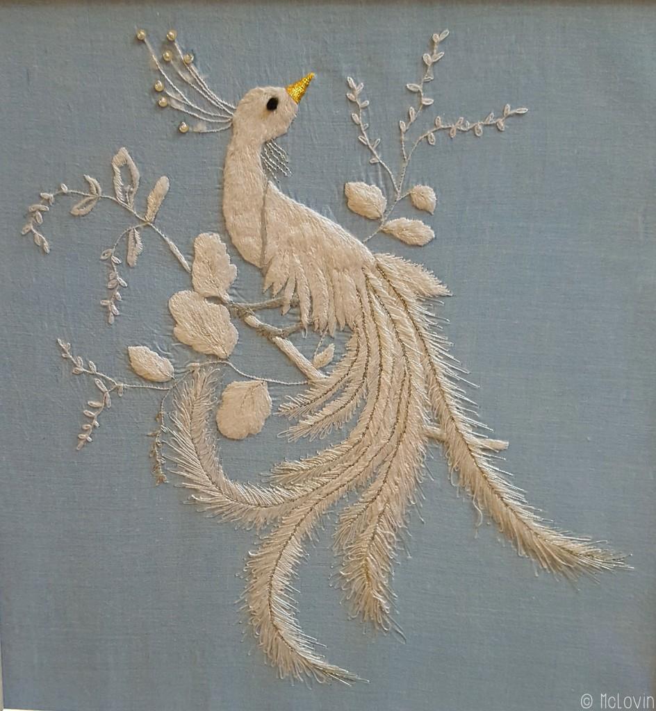 Oiseau de paradis réalisé en passé empiétant par Pascal Jaouen
