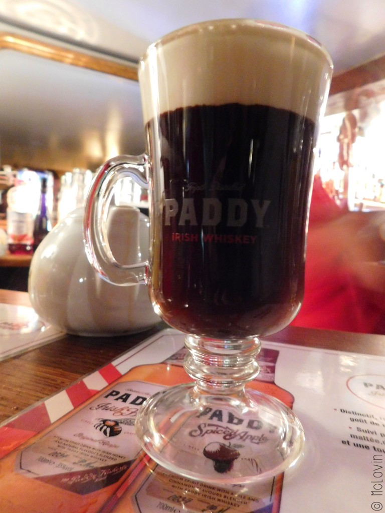 Irish Coffee avec du Paddy Irish Honey