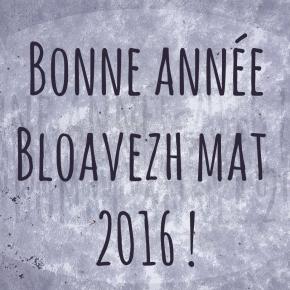 Bonne année 2016 ! Bloavezh mat 2016 !