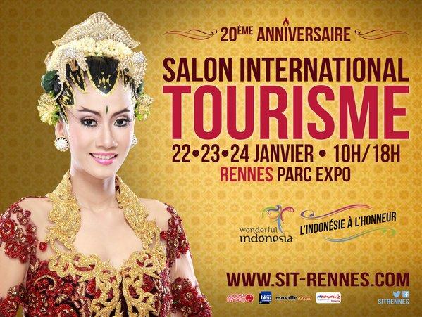 Affiche du Salon International du Tourisme de Rennes 2016