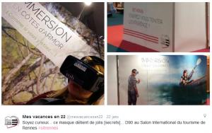 Tweet de Mes Vacances en 22 concernant l'Oculus Rift