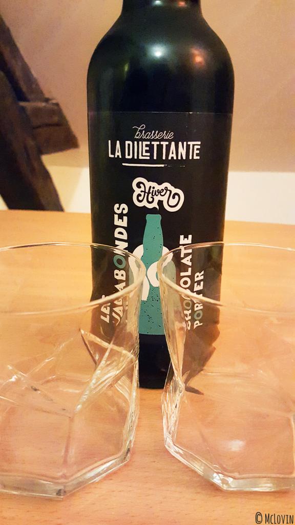 Une bouteille de Chocolate Porter de la brasserie La Dilettante