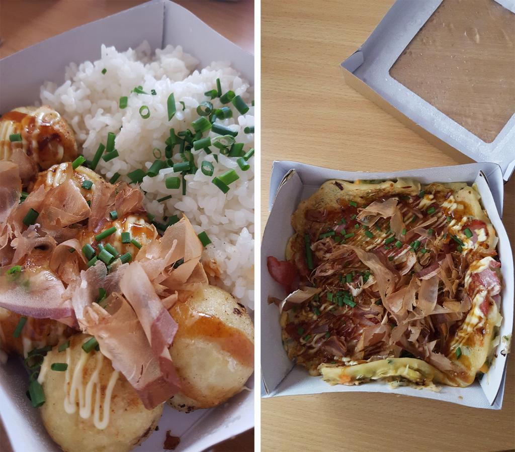 Takoyaki et okonomiyaki du restaurant japonais Oïshi Kata de Rennes