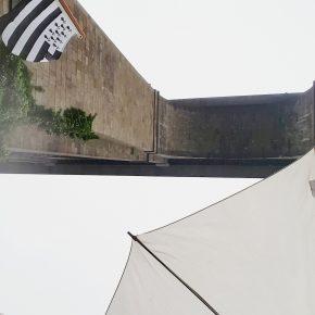 Photo Instagram du passage du Jaman V sous le viaduc de la Rance pour l'Instameet Dinan Léhon 2016