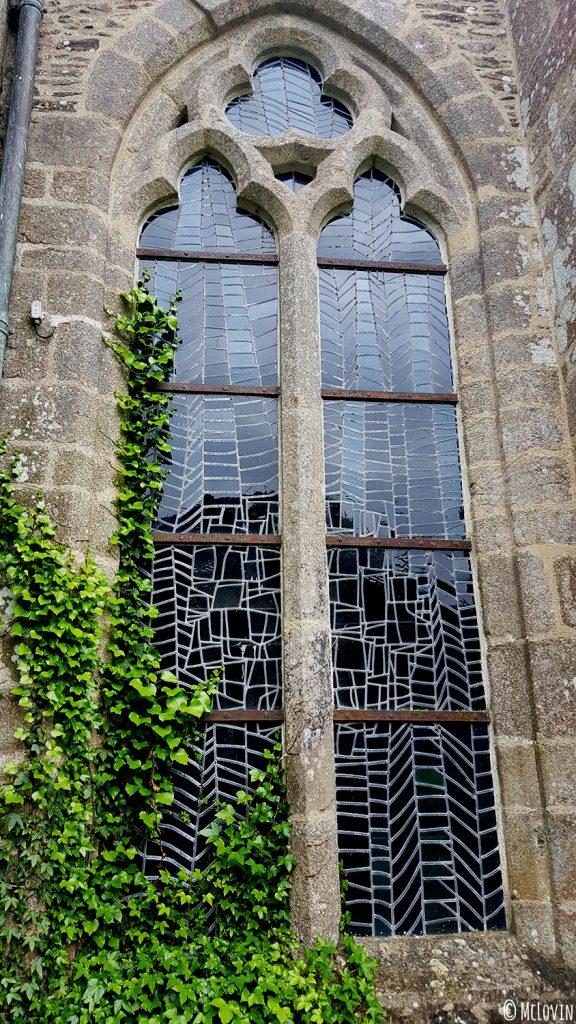 Les vitraux contemporains de l'abbaye Saint-Magloire de Léhon lors de l'Instameet Dinan Léhon 2016