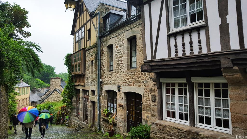 Les maisons à pans de bois dans la rue du Jerzual à Dinan pour l'Instameet Dinan-Léhon 2016