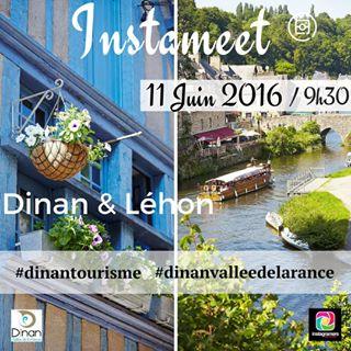 Photo Instagram annonçant l'Instameet Dinan-Léhon du 11 juin 2016