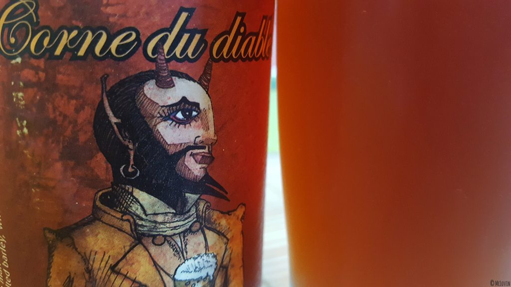 Etiquette et bière Corne du Diable de la brasserie canadienne et québécoise Dieu du Ciel !