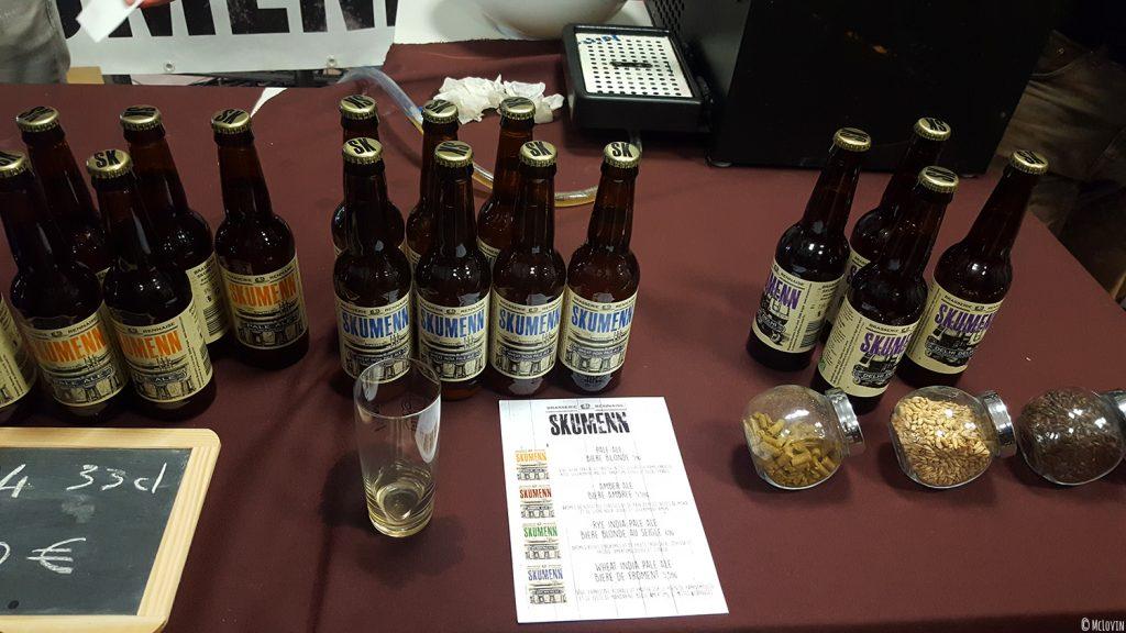 Les bières de la brasserie Skumenn d'Acigné (35) à La P'tite Chope, fête des bières locales à Hédé-Bazouges en octobre 2016