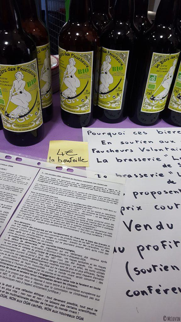 La bière des faucheurs volontaires d'OGM à La P'tite Chope, fête des bières locales à Hédé-Bazouges en octobre 2016