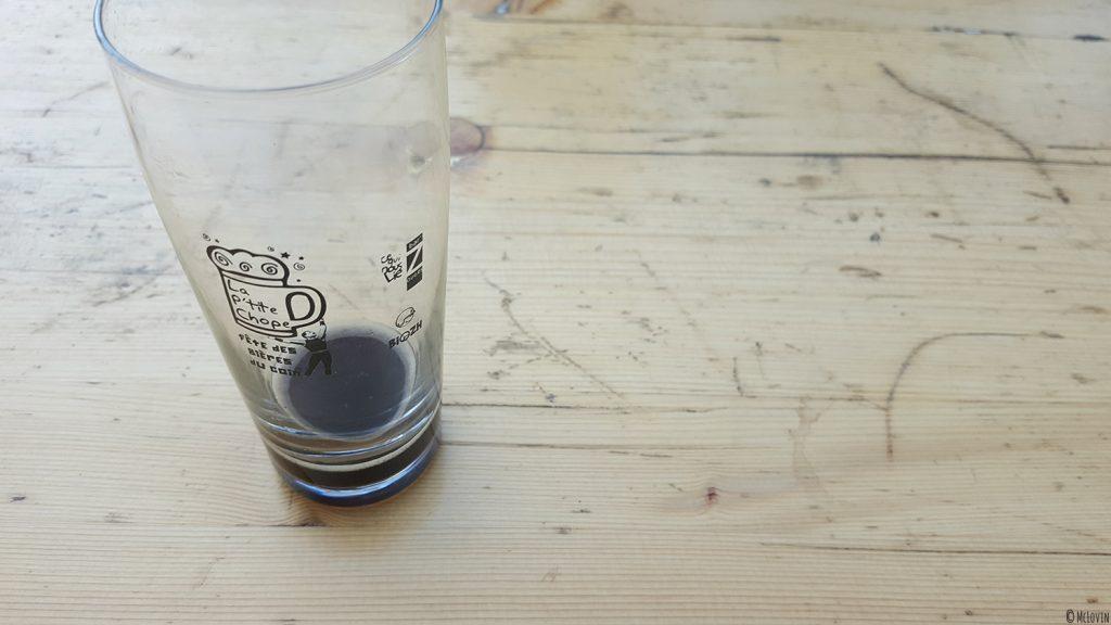 Verre de dégustation officiel de la première édition de la fêtes des bières locales La P'tite Chope à Hédé-Bazouges en octobre 2016