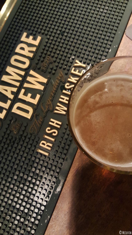 Pinte de Coreff sur le bar du Westport Inn, bar et pub irlandais à Rennes.
