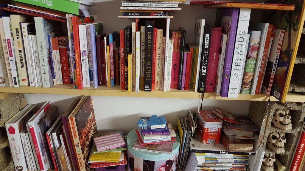 Ma collection de livres de cuisine en tout genre.