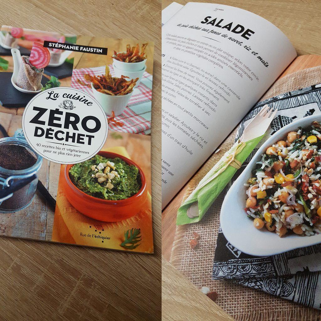 """Le livre de cuisine """"La cuisine zéro déchet"""" de Stéphanie Faustin aux éditions Rue de l'Echiquier."""