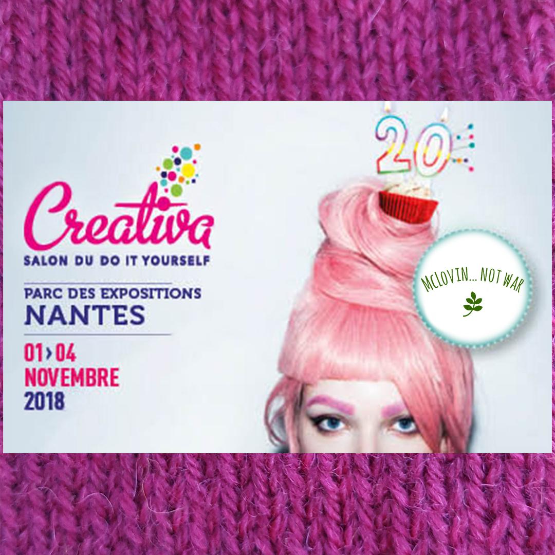 Le visuel McLovin pour le salon Creativa des travaux manuels et du DIY de Nantes en 2019.