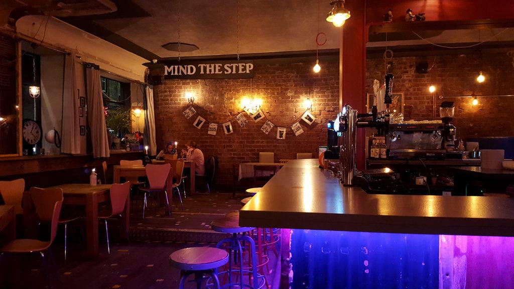L'intérieur du pub Barrelhouse à Edimbourg en Ecosse où je me suis rendue pour rencontrer les tricoteuses du Town Mouse Knitting Club, club de tricot.