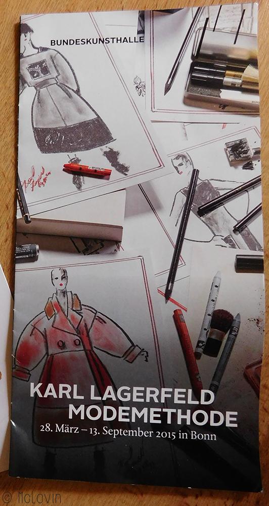 Flyer de l'exposition Karl Lagerfeld Modemethode / La méthode mode de Karl Lagerfeld